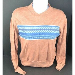 Vtg 1970's Soft Lightweight Fleece Top w/ Stripe
